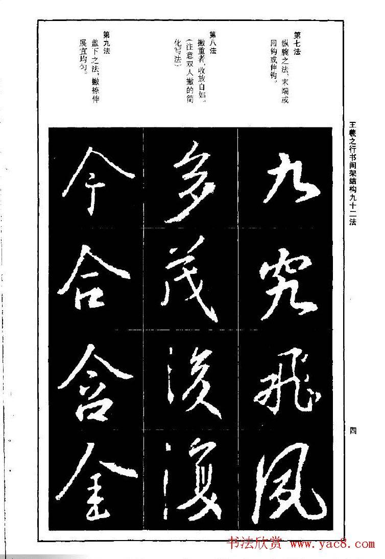 王羲之行书间架结构九十二法.pdf字帖下载