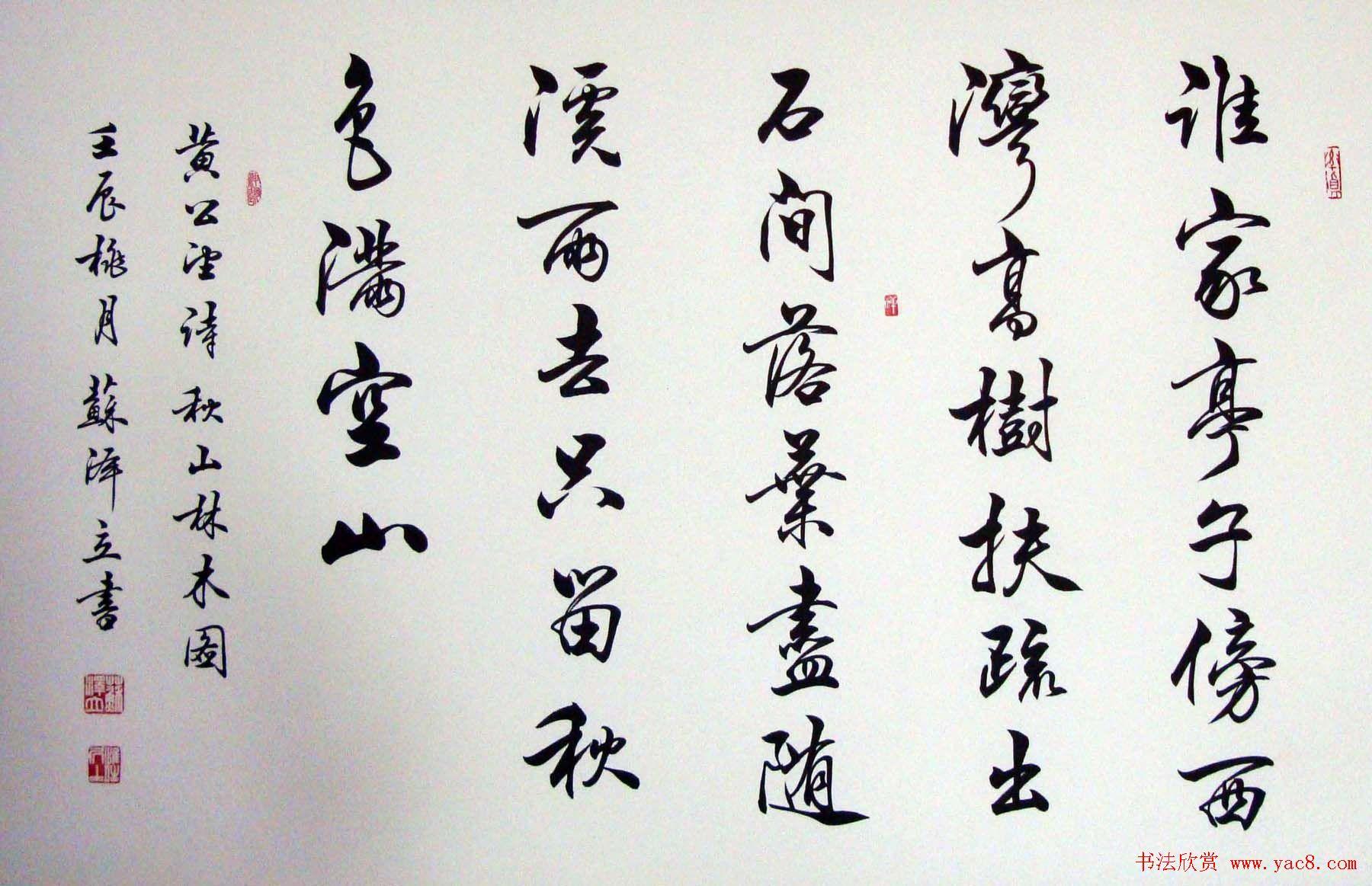 毛笔行书书法欣赏_陈之泉书法作品欣赏及主要艺术观点