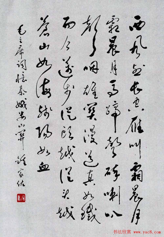 名家书法作品欣赏《毛主席诗词》第二辑图片