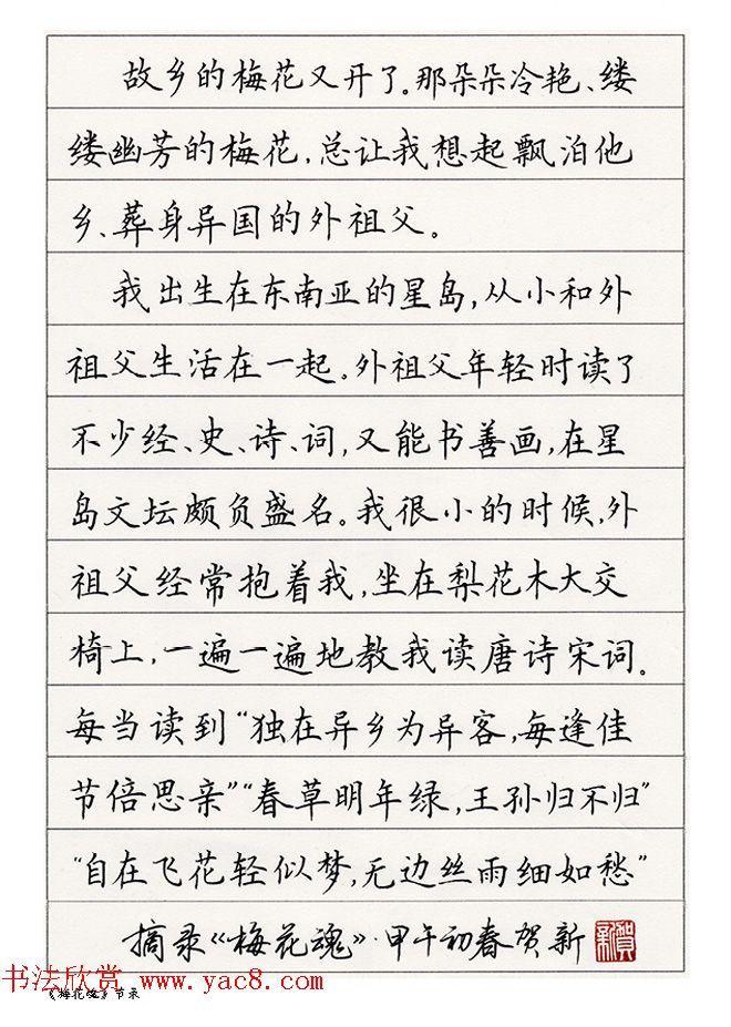 硬笔(中性笔)书法我只服赵贺新!带出来的学生也是出类图片