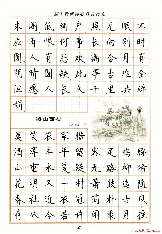 卢中南钢笔楷书字帖 第10页 钢笔字帖 书法欣赏图片