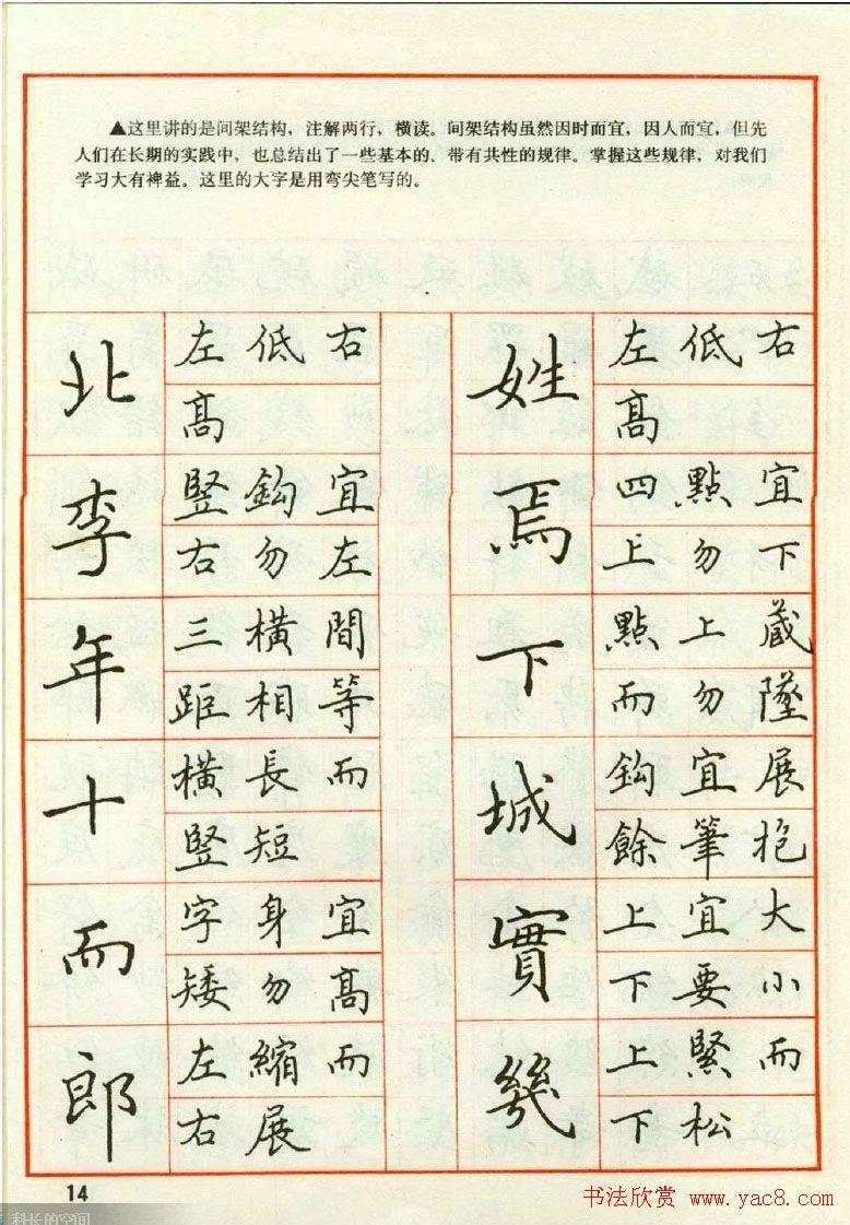 田英章钢笔楷书实用技法字帖 第15页 钢笔字帖 书法欣赏图片