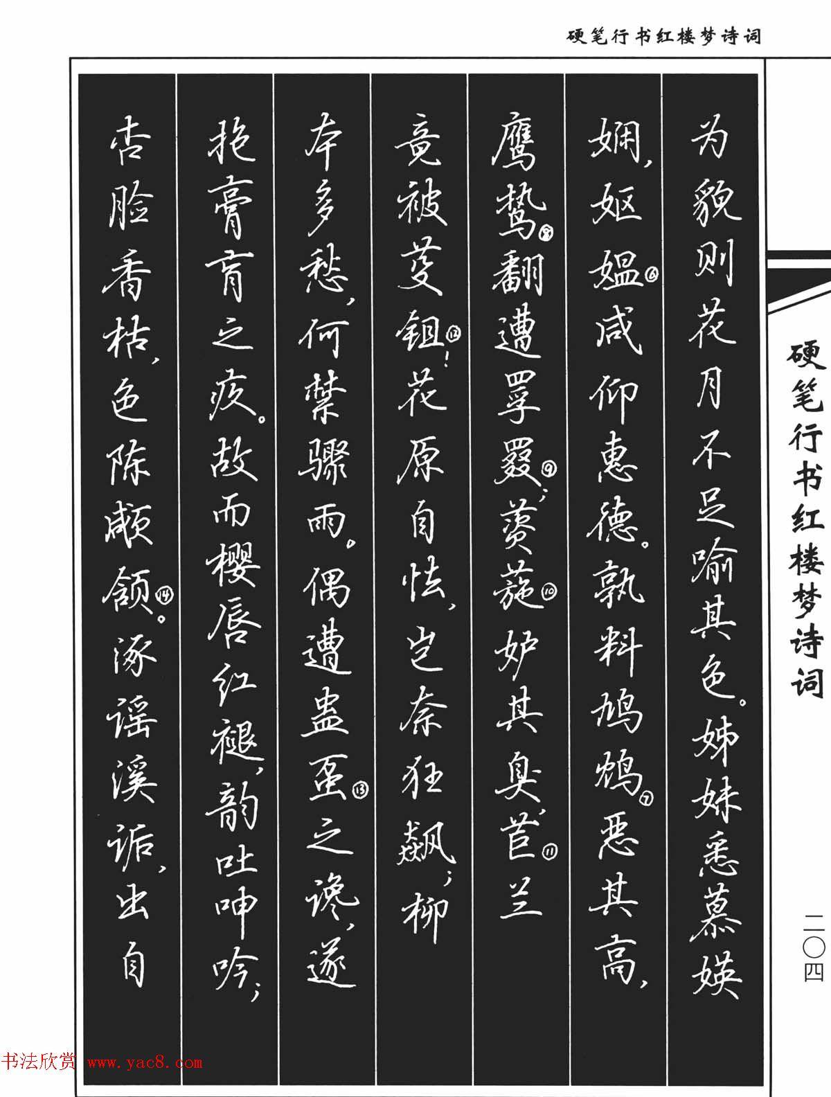 吴玉生钢笔字帖欣赏硬笔行书红楼梦诗词(33)