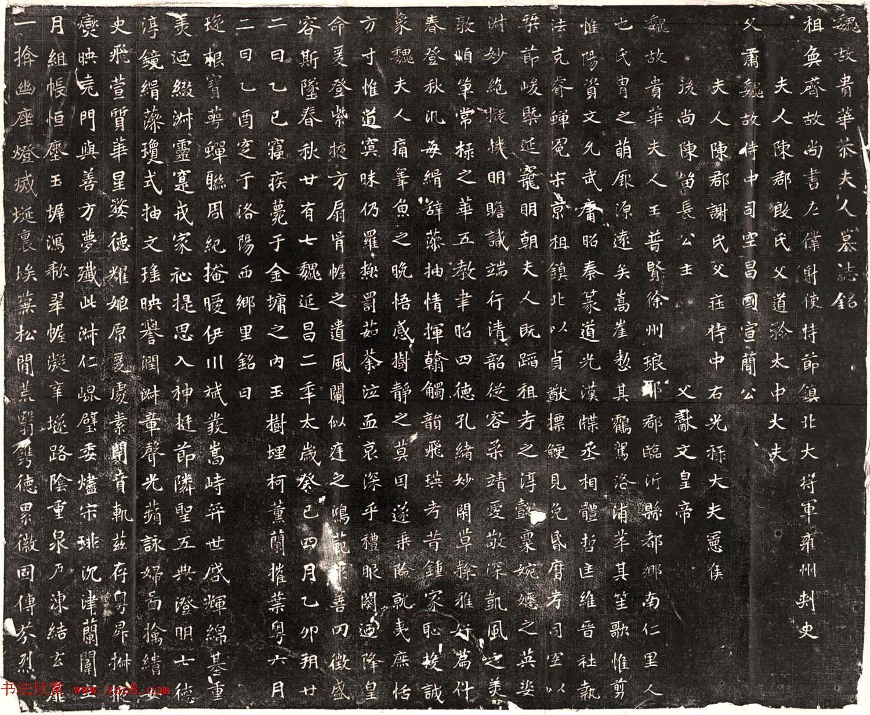 北魏书法石刻《元恪贵华夫人王普贤墓志》