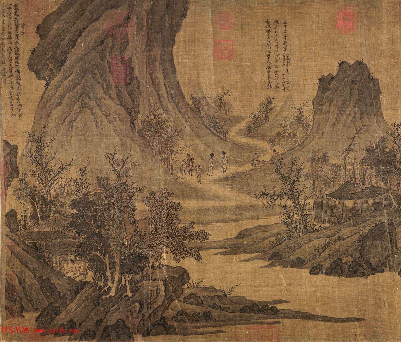 宋代张先82岁创作山水人物画《十咏图》