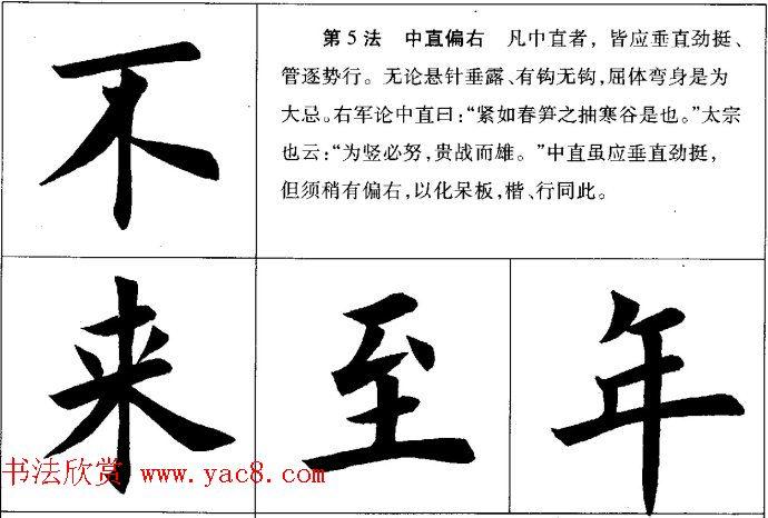 田英章毛笔书法间架结构28法图文版(8)