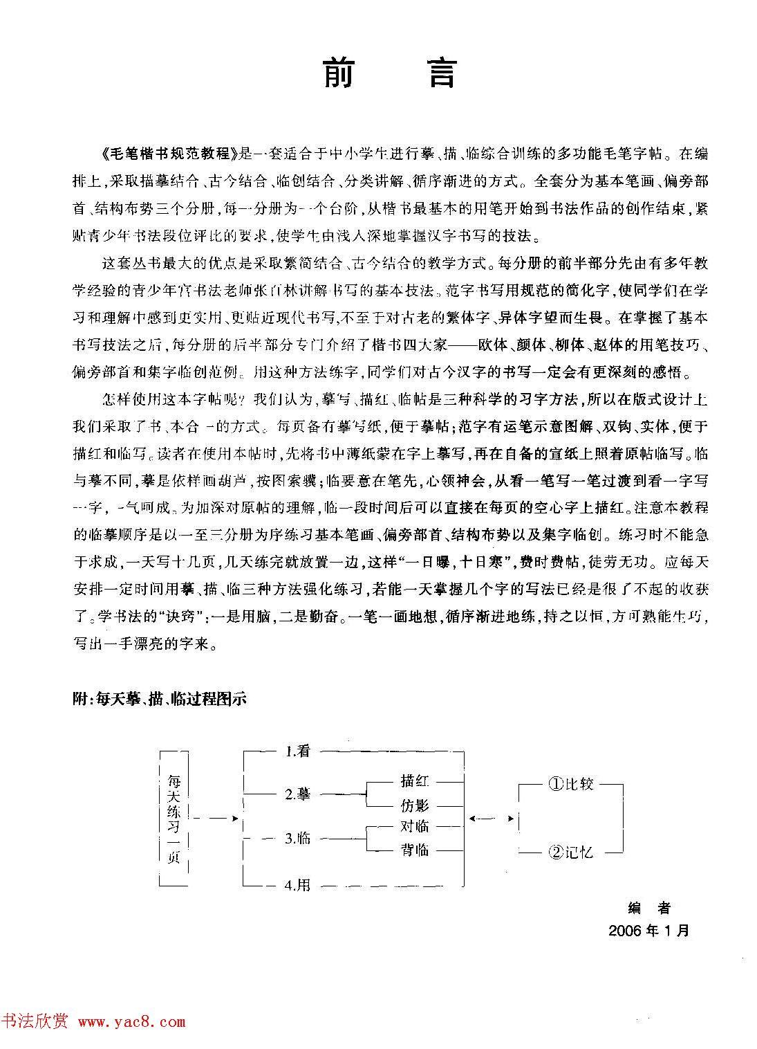 海南版精品字帖《毛笔楷书实用教程-楷书笔画》
