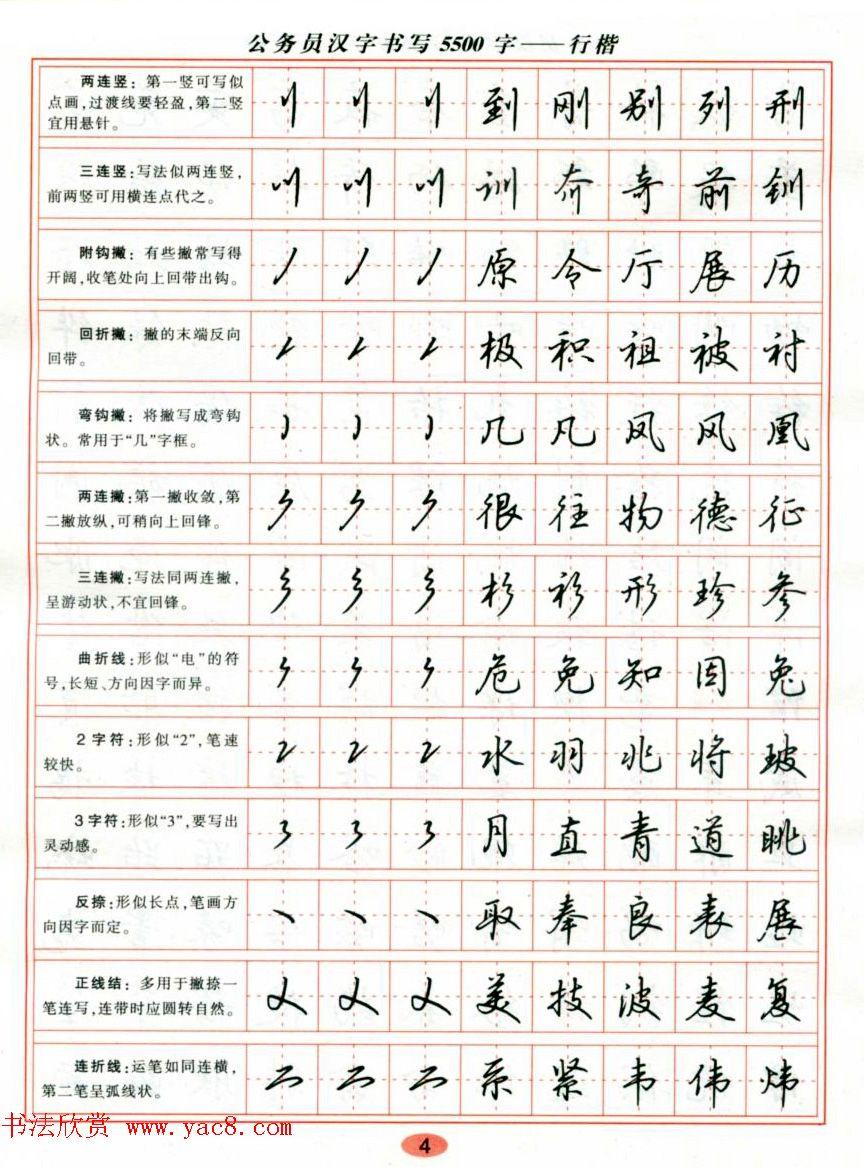 吴玉生钢笔行楷字帖《公务员汉字书写5500字》