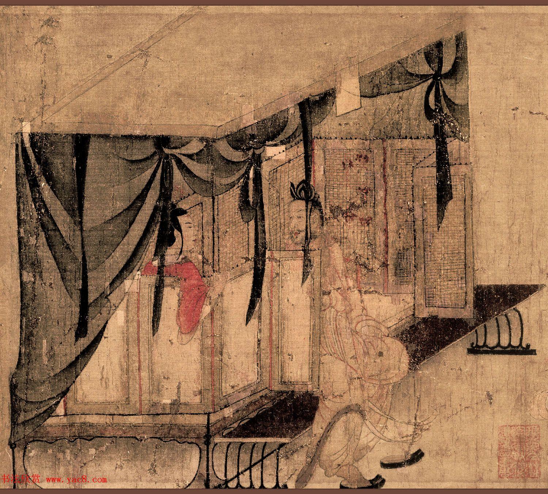 东晋顾恺之《女史箴图》唐人摹本英国馆藏