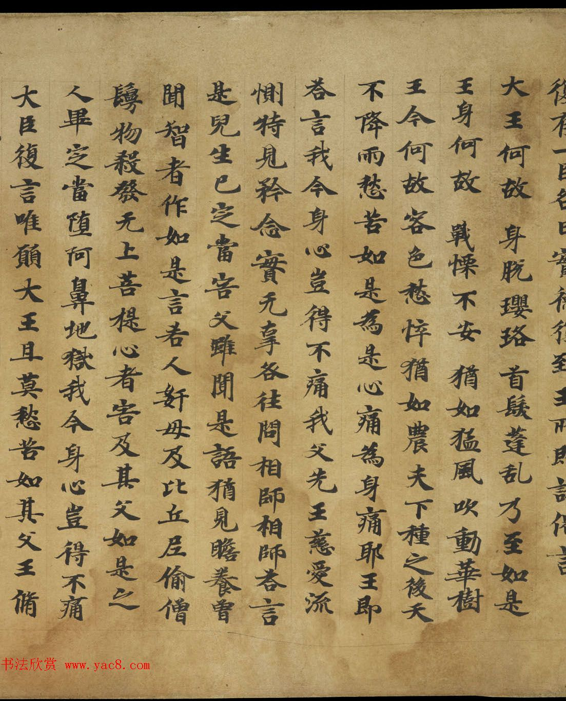 敦煌书法《大般涅盘经卷第十九梵行品第八之五》