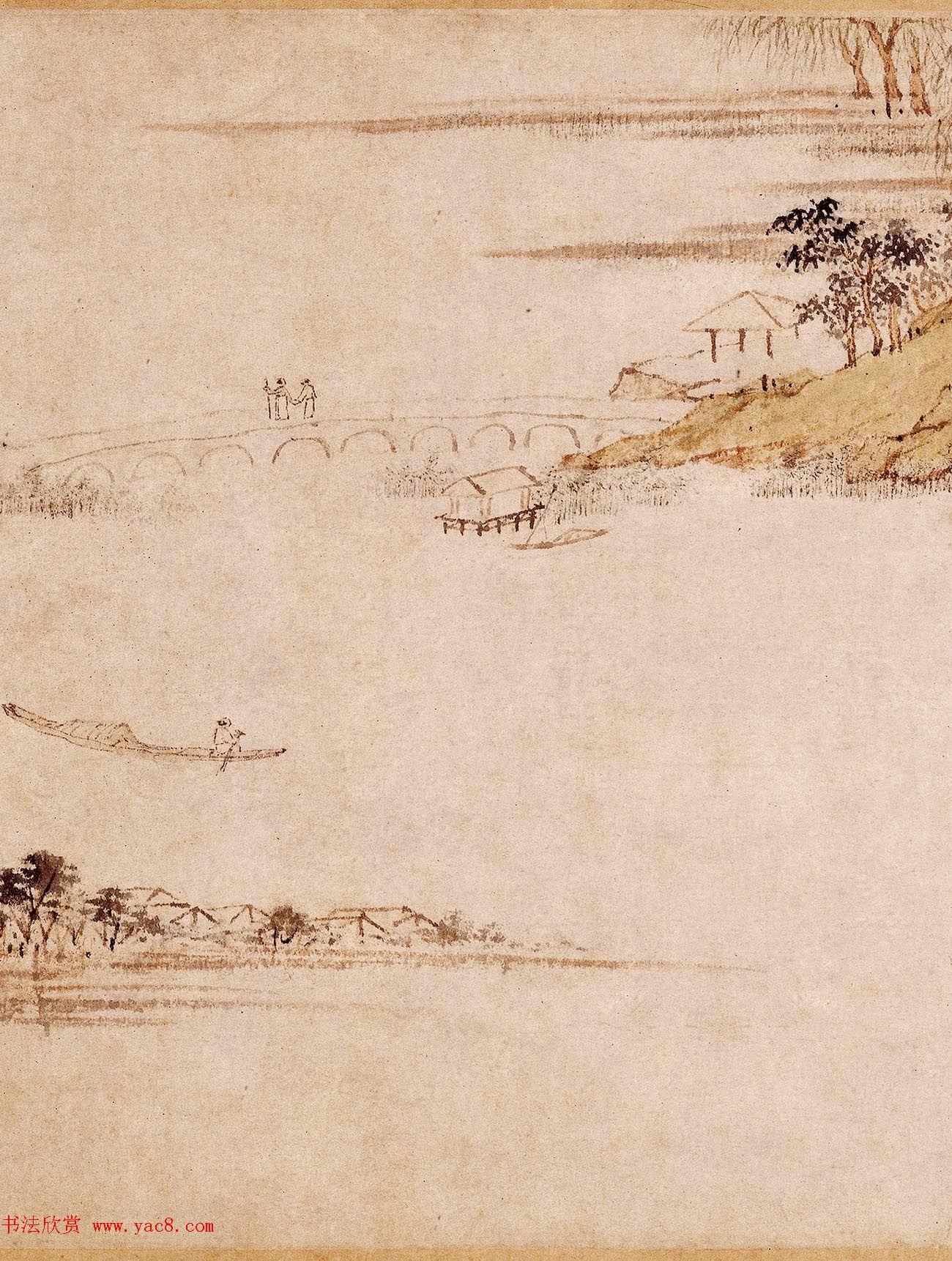 明代陆治为五湖先生作《石湖图卷》