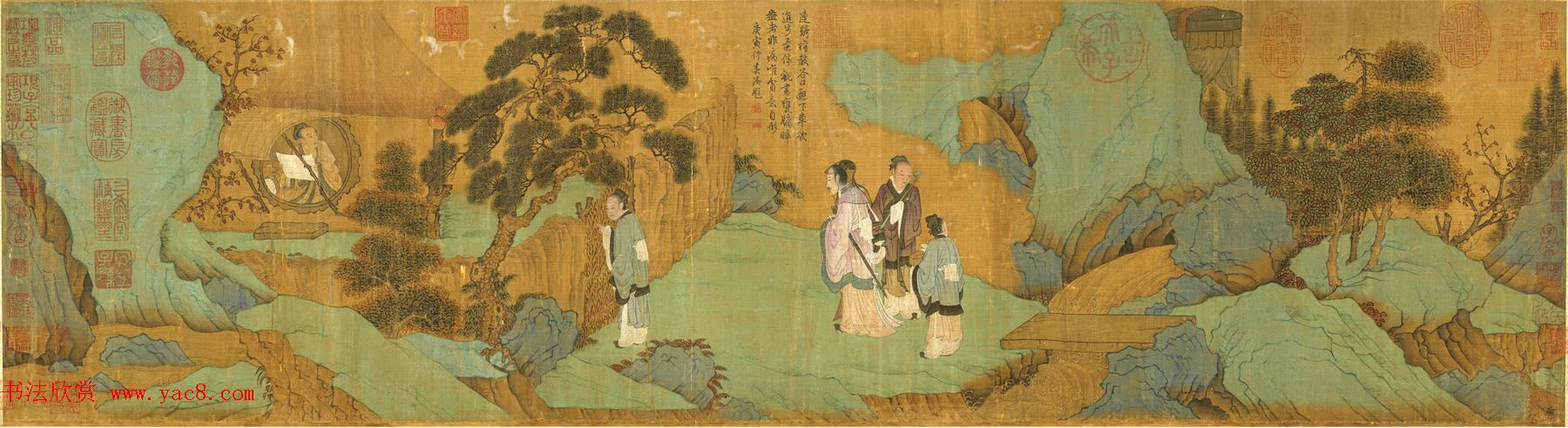 元代趙孟頫書畫作品欣賞《甕牖圖卷》