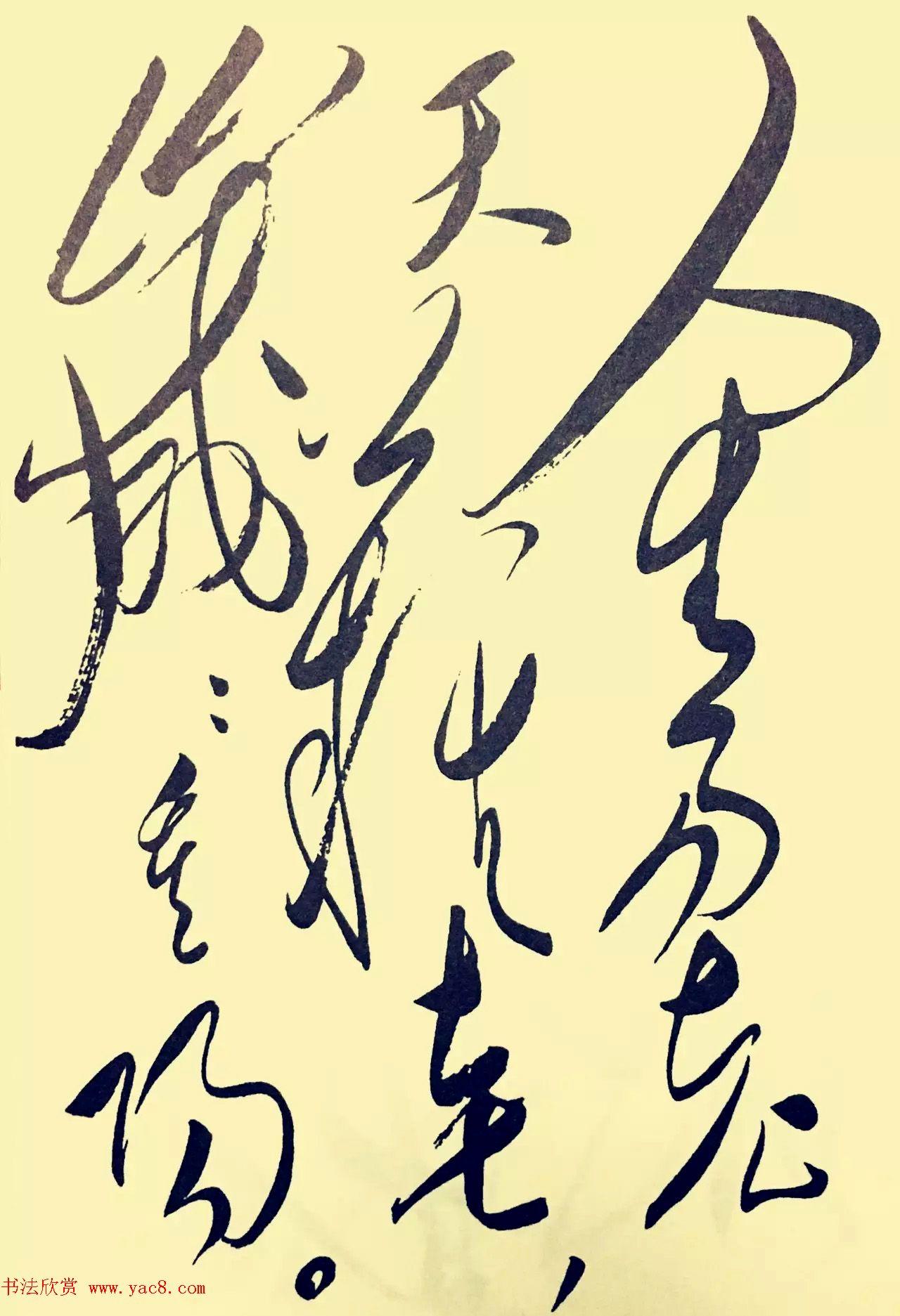 毛泽东草书欣赏《采桑子·重阳》