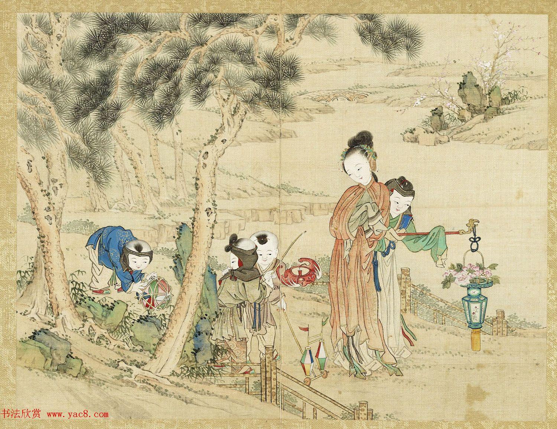 清宫绘本《升平乐事图册》十二开