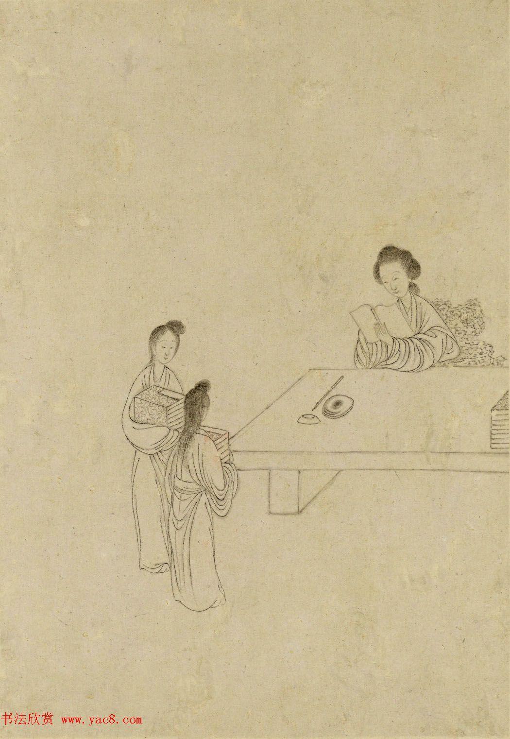 清代曹贞秀小楷书题改琦绘《列女图冊》