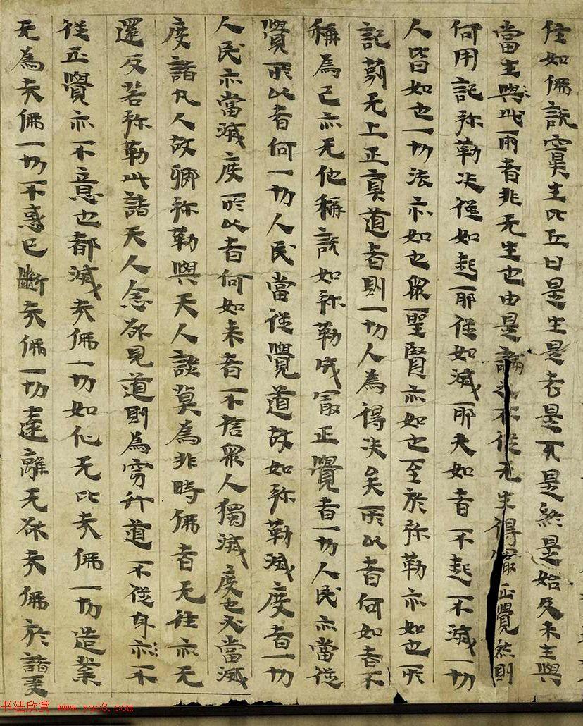 后涼王相高书法墨迹写维摩经卷