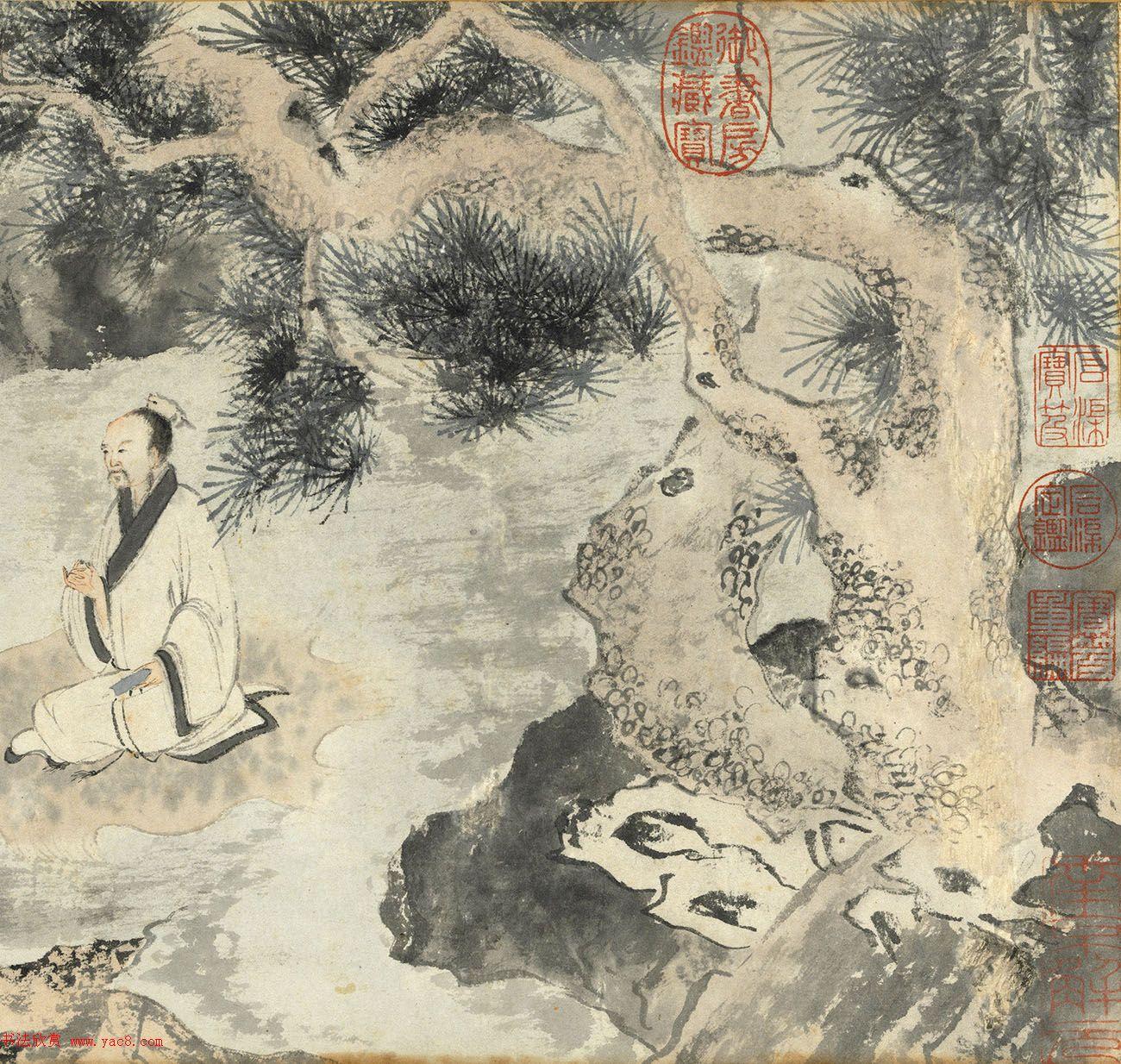 明代唐寅书画欣赏《烧药图》