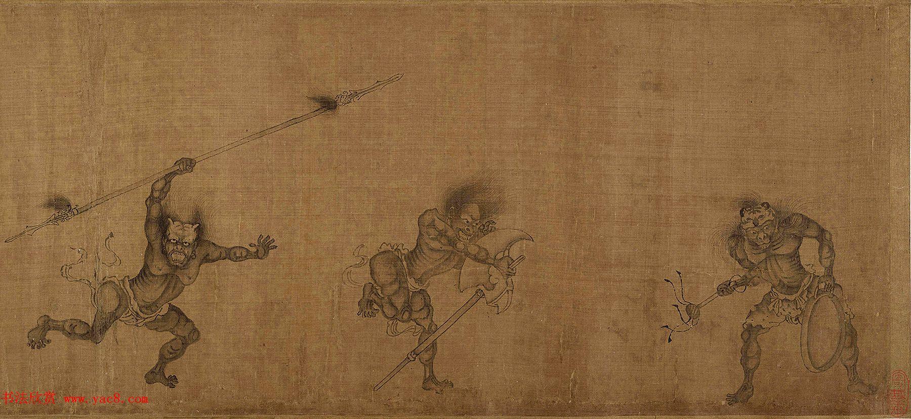 颜庚《钟馗嫁妹图》和《钟馗雨夜出游图》