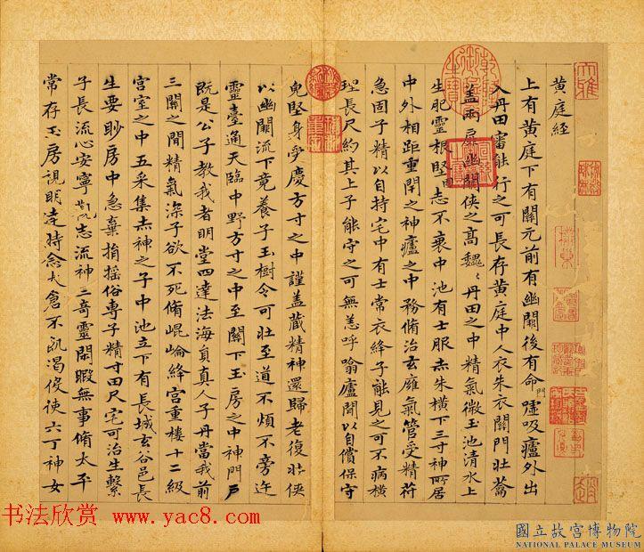元赵孟頫摹黄庭经并写羲之换鹅图册