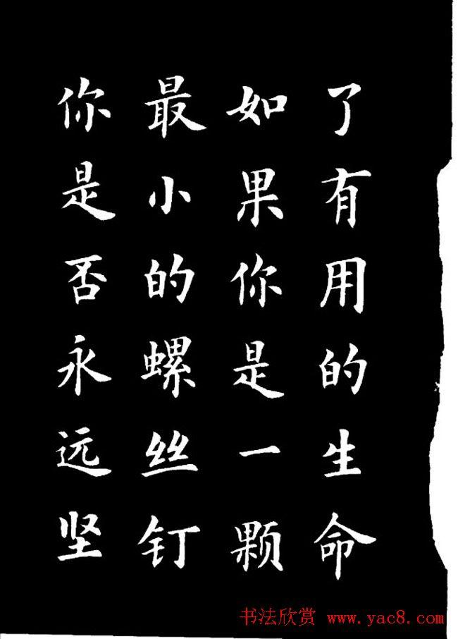 卢中南楷书《欧体简化字雷锋名言字帖》(4)图片