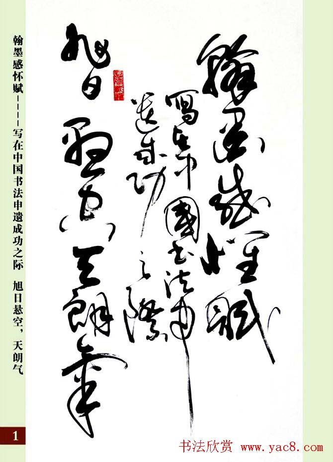 亢银中草书欣赏《翰墨感怀赋》册页