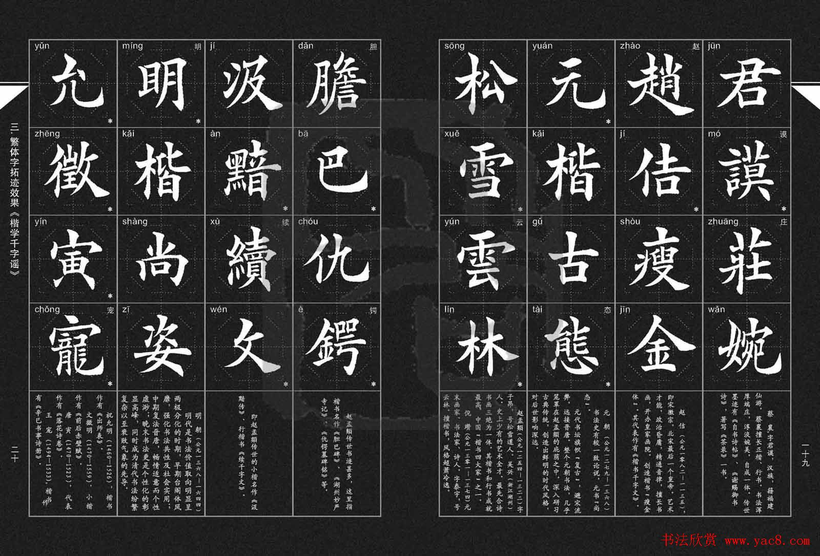 徐晓川书法字帖欣赏 楷学千字谣 第5页 楷书字帖 书法欣赏图片