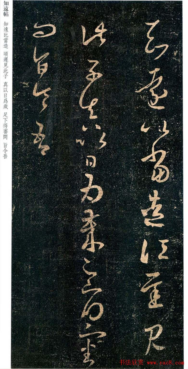 王羲之草书欣赏《知远帖》三种