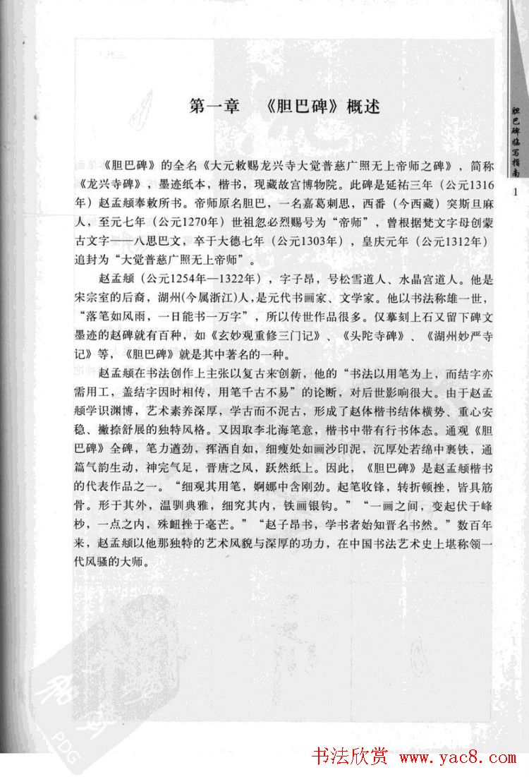 赵孟頫胆巴碑临写指南行楷字帖