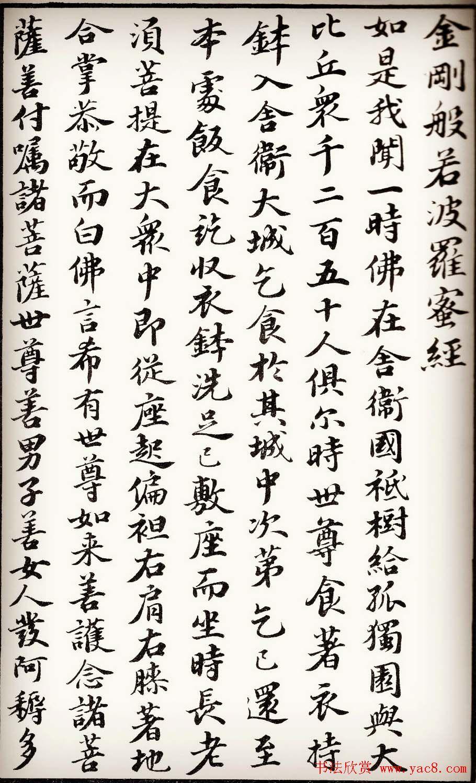 苏轼行楷书法欣赏《金刚经》全本