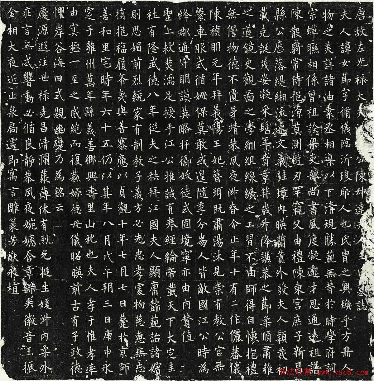 欧阳询率更体楷书欣赏《王女节墓志》全图
