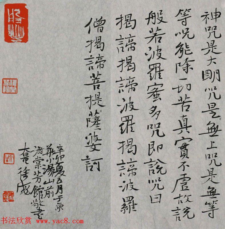 徐海书法作品欣赏《般若波罗蜜多心经》
