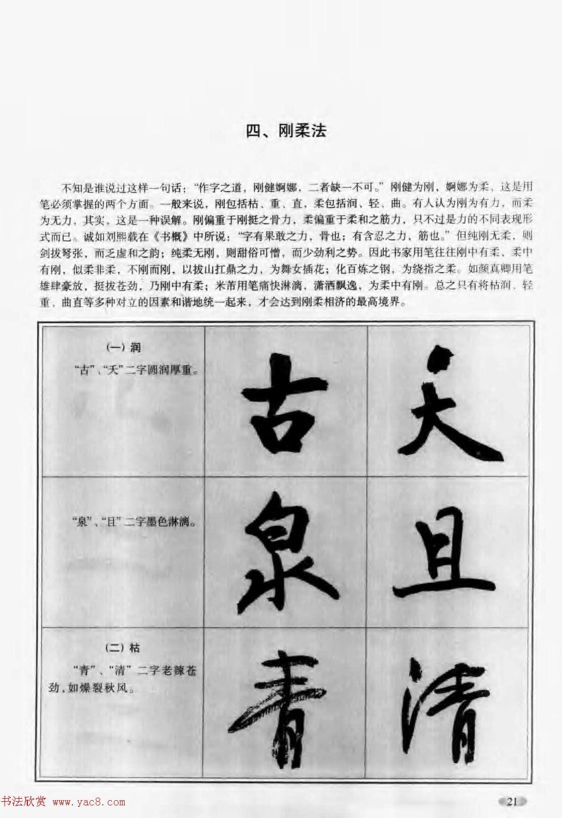 毛笔书法字帖 行书入门字谱图片
